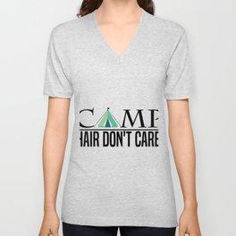 Camping Camper Funny Unisex V-Neck