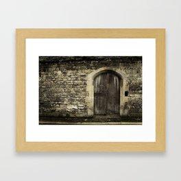 Oxford Wall - Vintage England Framed Art Print