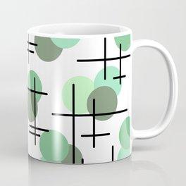 Atomic Age Molecules 5 Mint Green Sage Coffee Mug