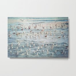The Gangs All Here Seascape Metal Print