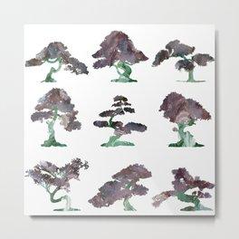 New Bonsai Pattern Metal Print
