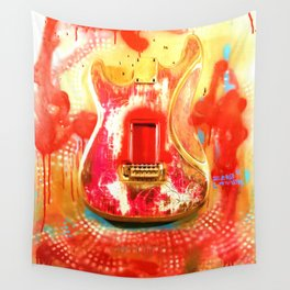"""""""To the Old Gods"""" American contemporary Guitar  painting, prints , music , electric , wall art,decor Wall Tapestry"""