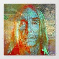 iggy Canvas Prints featuring Iggy by Joe Ganech