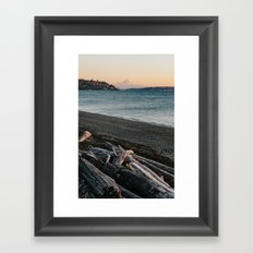 Mount Rainier Sunset Framed Art Print