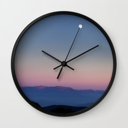 The moon over Rila Moutain Wall Clock