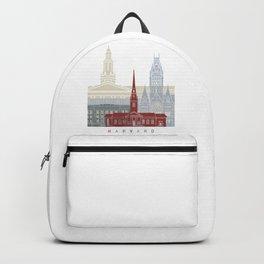 Harvard skyline poster Backpack