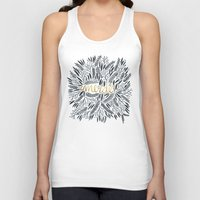 french Tank Tops featuring Pardon My French – Black & Gold by Cat Coquillette