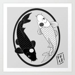 yinyangkoi Art Print