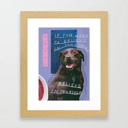 dog knows best Framed Art Print