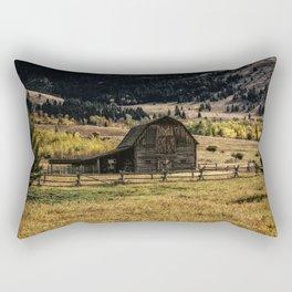 Montana Barn Photography Print Rectangular Pillow