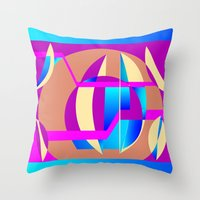 celestial Throw Pillows featuring Celestial by MMZ Designs