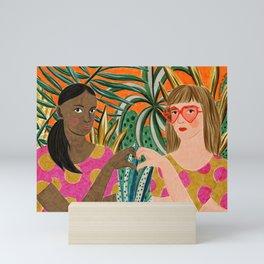 Girlfriends by Veronique de Jong Mini Art Print