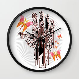 Electric Spring Wall Clock