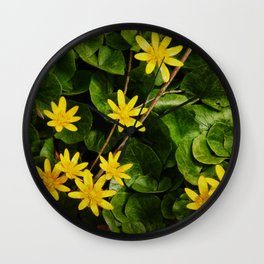 Creeping Wildflowers Wall Clock