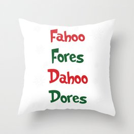 Welcome Christmas | Fahoo Fores Dahoo Dores Throw Pillow