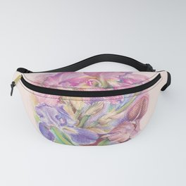 Iris Garden pastel drawing Fanny Pack