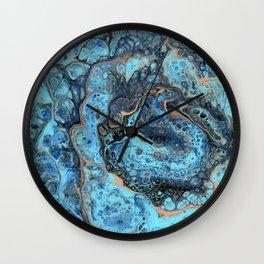 Lapis Lazuli 1 - Acrylic Flow Abstract Wall Clock