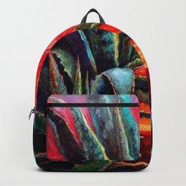 WESTERN DESERT AGAVE TURQUOISE-CERISE PATTERNED ART Backpack