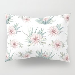 Cactus Rose Succulent Garden Pillow Sham