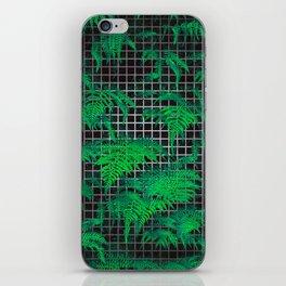 Fern Grid Plant Wall iPhone Skin