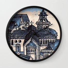 Monastery - Nuremberg Chronicle Wall Clock