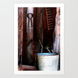 Clippers and the Bucket Art Print
