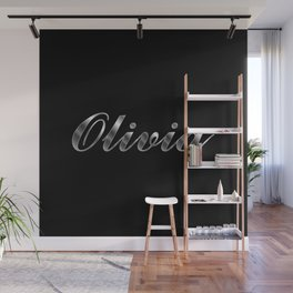 Olivia in Silver Wall Mural