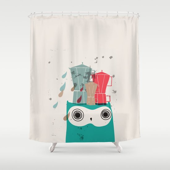 Owl Aloud Shower Curtain
