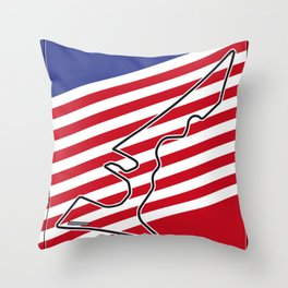 Circuit of the Americas, Austin Texas Throw Pillow