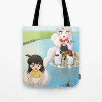 inuyasha Tote Bags featuring Inuyasha:  Summer by Kerstie Milana