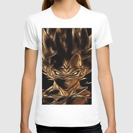 Dragon Ball Vegeta Artistic Illustration Energy Style T-shirt