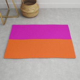 Bright Orange & Fuchsia Pink Color Block Rug