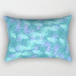 Soft Ocean Waves; Fluid Abstract 51 Rectangular Pillow