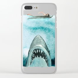 Shark Attack 70s movie Ocean Clear iPhone Case