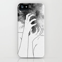 Losing thoughts. iPhone Case