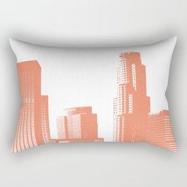 Orange Los Angeles skyline Rectangular Pillow