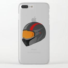 Motorcycle helmet Clear iPhone Case