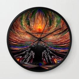 Flame Fantasy Vision Wall Clock