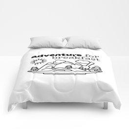 Adventure for Breakfast Graphic Art Comforters