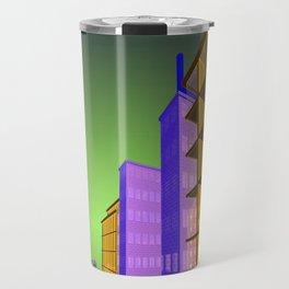 the colored city Travel Mug