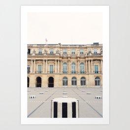 Buren's Columns, Le Palais Royal Courtyard, Paris, France Art Print