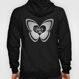 FREE TO FLY butterfly - silver Hoody