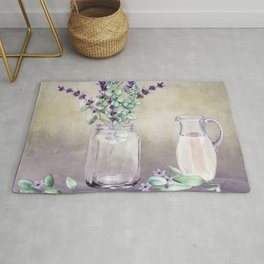 Country Lavender and Eucalyptus Rug