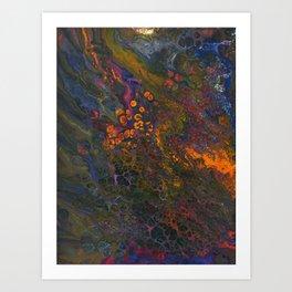 Acid Orange Art Print
