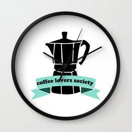 Coffee Lovers Society Wall Clock