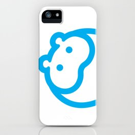 Blue hippo iPhone Case