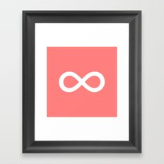 Coral Infinity Framed Art Print