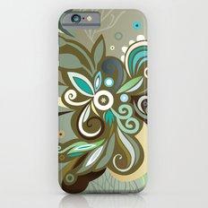 Floral curves of Joy, olive iPhone 6s Slim Case