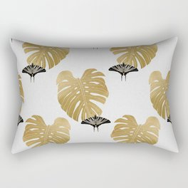 Botanical, Butterfly & Monstera Rectangular Pillow