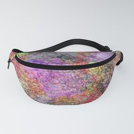 Colorful Abstract Water Color Misty Swirls Design Fanny Pack